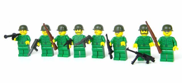 R custom WW2 German Wehrmacht army squad  made w// real LEGO minifigure soldiers