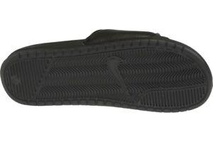 san francisco 3a0bd 5d112 Mens Black Nike Benassi JDI Flip Flops Pool Beach Holiday Shoes ...