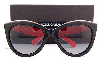 Brand New Dolce & Gabbana Sunglasses 4207 2764/T3 BLACK/RED for Women