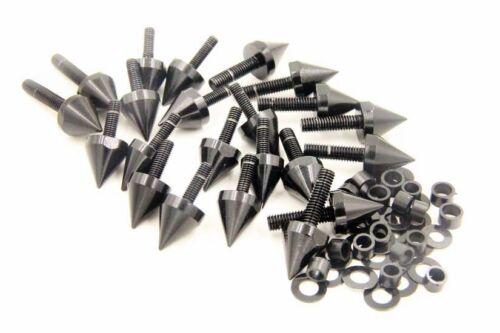 Black Fairing Bolts Kit for Kawasaki Ninja ZX6R//636//ZX6RR 2003 2004 2005 2006