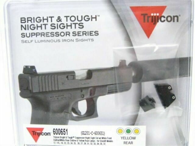 Yellow Rear Trijicon Sig Sauer Bright /& Tough Night Sight Set