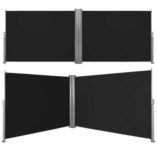 Alu Doppel Seitenmarkise Sonnenschutz Sichtschutz Terrasse 180x600 cm B-Ware