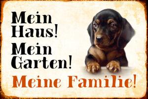 Mein Home Garden Dog Dachshund Tin Sign Shield 20 X 30 CM R0417