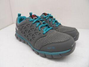 Reebok Work Women's Sublite Safety Cushion Work Shoes RB045 Grey/Blue Size 8.5W
