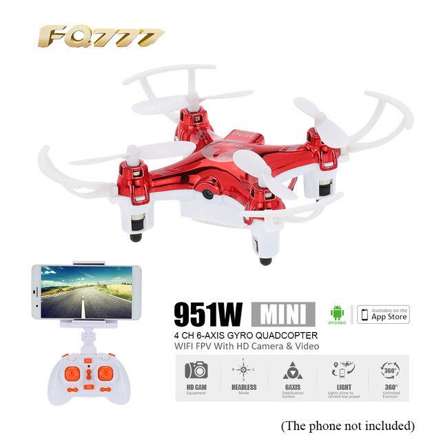 FQ777 FQ777 FQ777 951W 2.4GHz 4CH 6 Axis Gyro Mini RC Racing Quadcopter HD Camera WiFi FPV 40df38