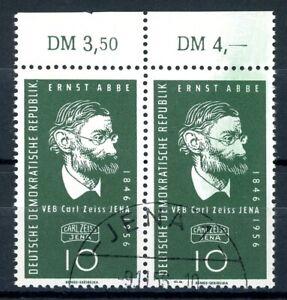 DDR MiNr. 545 I Sonderstempel Plattenfehler im waag. Paar (PL148