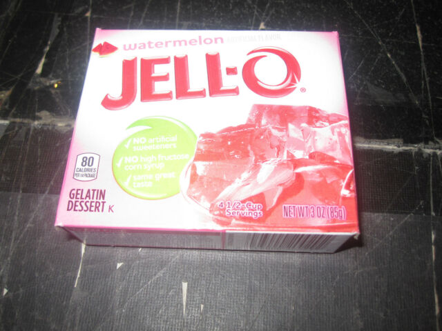 Jello Watermelon Gelatin Dessert 3 oz box