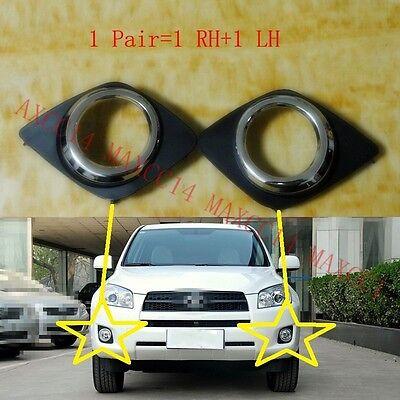 A Pair Front Bumper fog lamp light case For Toyota RAV4 2009-2012