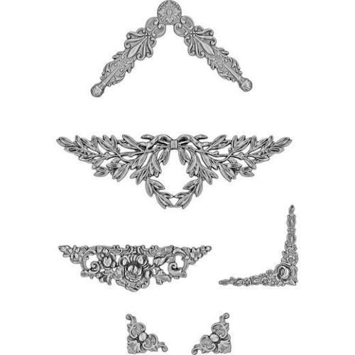 TH93687 Tim Holtz Idea-Ology viñeta metal acentos 6 un