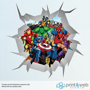 Image Is Loading Marvel Superheroes Wall Smash Wall Decal Sticker Bedroom