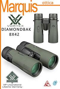 VORTEX-BINOCOLO-DIAMONDBACK-8X42-N-E-W-GARANZIA-A-VITA-ottica-Marquis