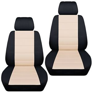 Front-set-car-seat-covers-fits-2015-2019-Kia-Carnival-black-sand