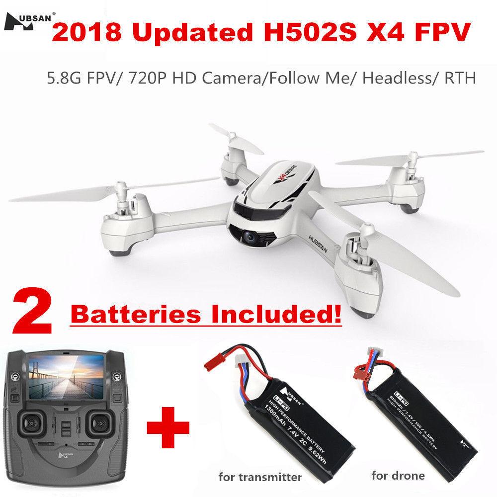 Hubsan H502S X4 5.8G FPV RC Cuadricóptero Con Cámara 720P Modo sin cabeza GPS +H901A