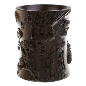 Chinese Style Calligraphy Writing Painting Brush Pot Embossment Holder