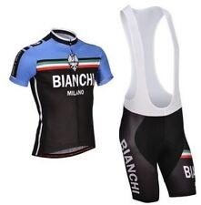Completo ciclismo Estivo MTB BIKE MAGLIA + SALOPETTE Bianchi azzurro/nero 2016