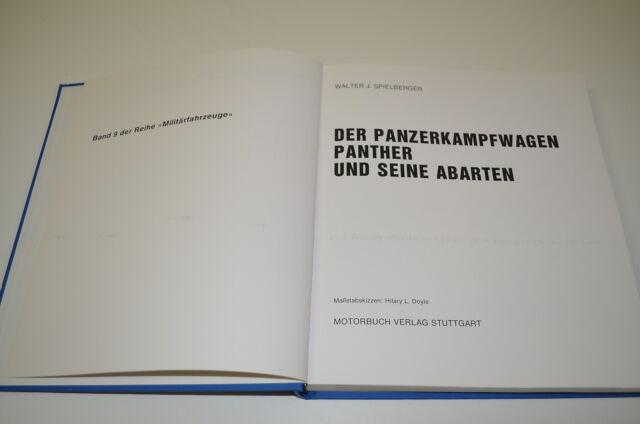 Buch Der Panzerkampfwagen Panther und seine Abarten Motorbuch Verlag Band 9