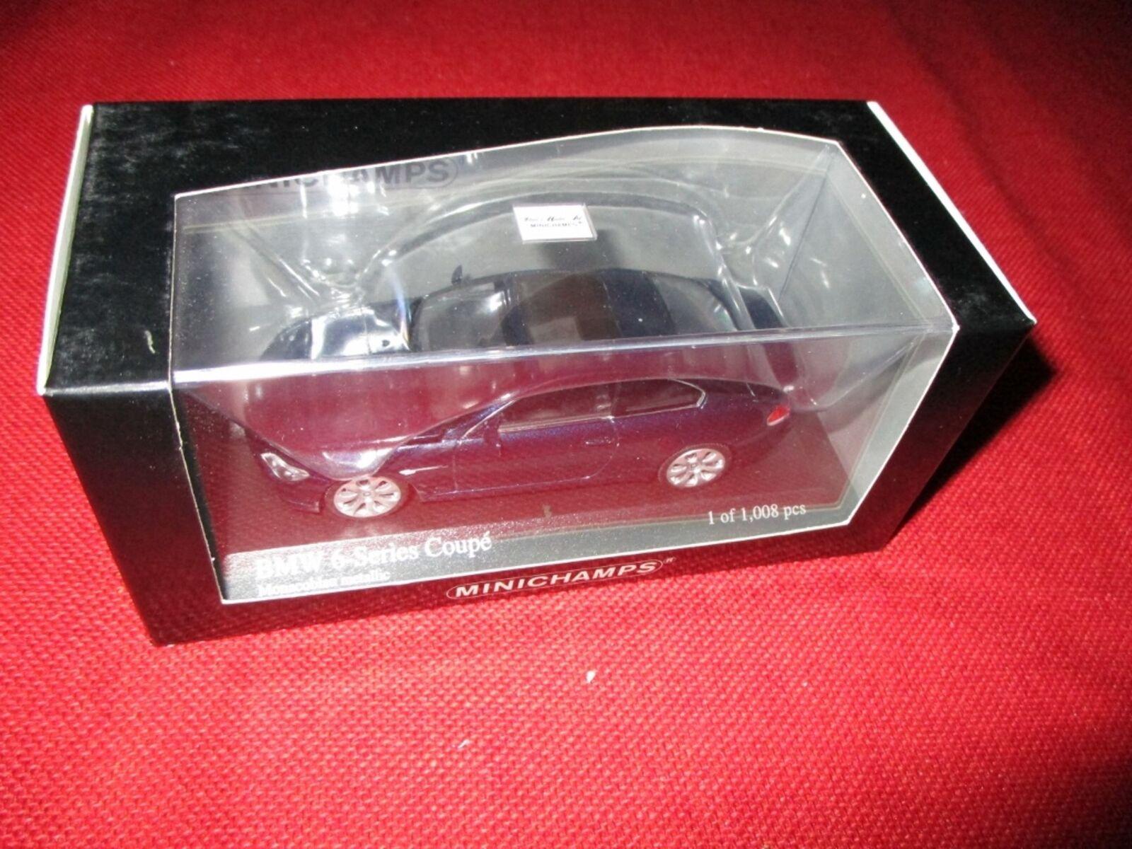 Minichamps ® 431 026021 1 43 BMW 6-Series Coupe 2006 BLU NUOVO OVP