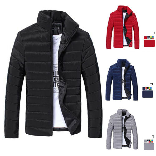 Men/'s Winter Puffer Bubble Coat Quilted Padded Jacket Zipper Outwear New 2020ZSH