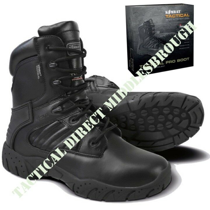 TACTICAL PRO BOOTS LEATHER MOD BLACK MENS 6-12 WORKWEAR BOOT ARMY CADET FOOTWEAR