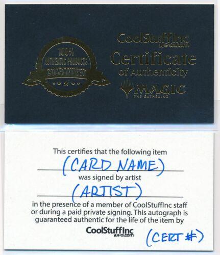 MTG Magic Mindstab Thrull Fallen Empires Signed by Artist Mark Tedin w// COA