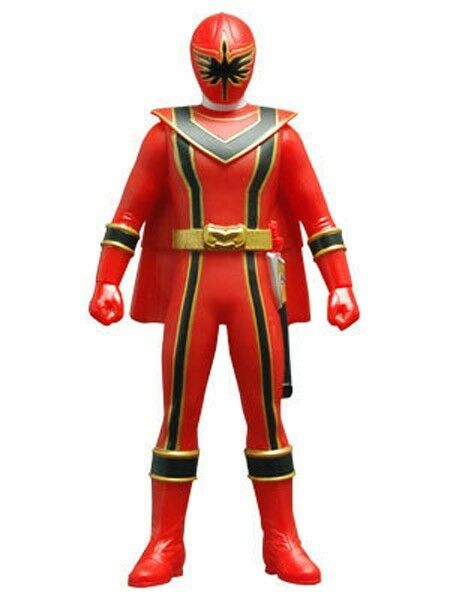 Power Rangers Kaizoku Sentai Gokaiger Gokai Red Soft Vinyl Action Figure Bandai