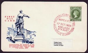 1955-ANPEX-PHILATELIC-EXHIBITION-CANCEL-ON-WESLEY-FIRST-DAY-CARD-CV-100