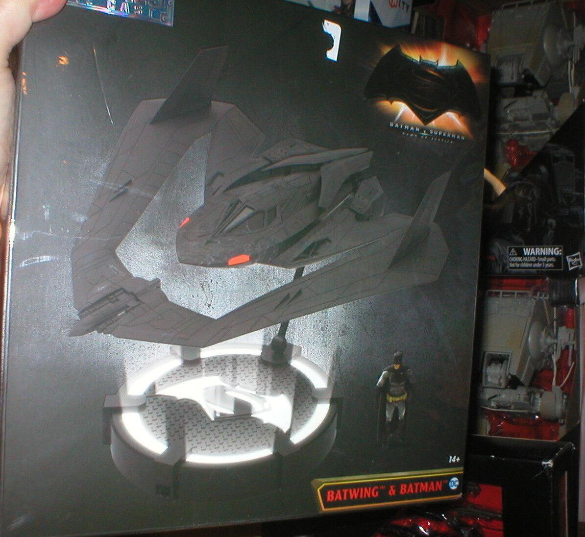 BATMAN VS. SUPERMAN DIE CAST METAL BATWING AND BATMAN, SEALED, NEVER OPENED
