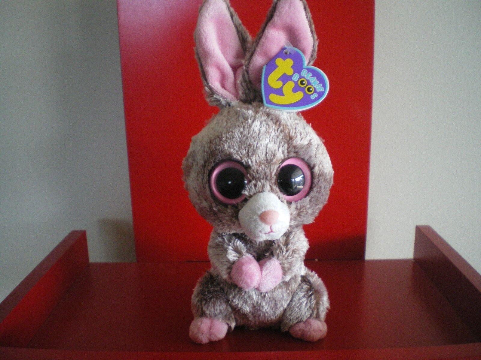 Ty Beanie Boos Woody El Conejo pulgadas nwmt. retirado & difícil de encontrar.