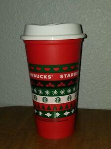 Starbucks Holiday//Christmas Reusable Hot Drink Cup Grande 16oz Brand New