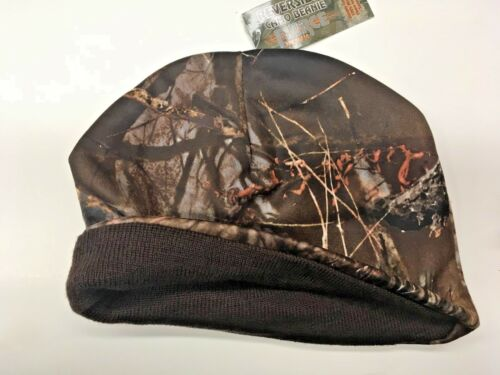 NEW Muddy Water Reversible Camo Beanie, with Brown Interior, Fierce Products