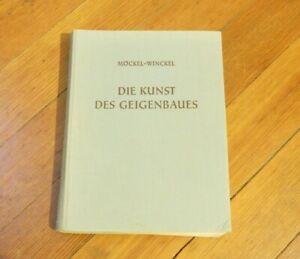 German Violin Book Die Kunst Des Geigenbaues Mockel & Winckel Free Shipping USA