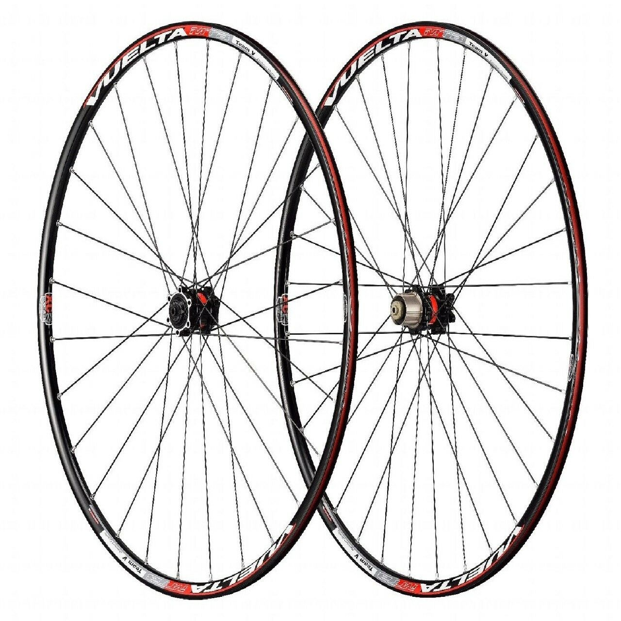 Vuelta Alloy 28H 28H Team V 27.5 6-bolt disc brake 10 speed Wheelset 27.5  blk