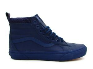 eb69e9c8a940 Image is loading VANS-SK8-HI-MTE-SNEAKERS-BLUE-3TXOQ1