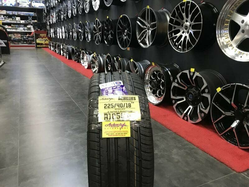 18 inch tyres tire 225-40-18 Achilles brand new