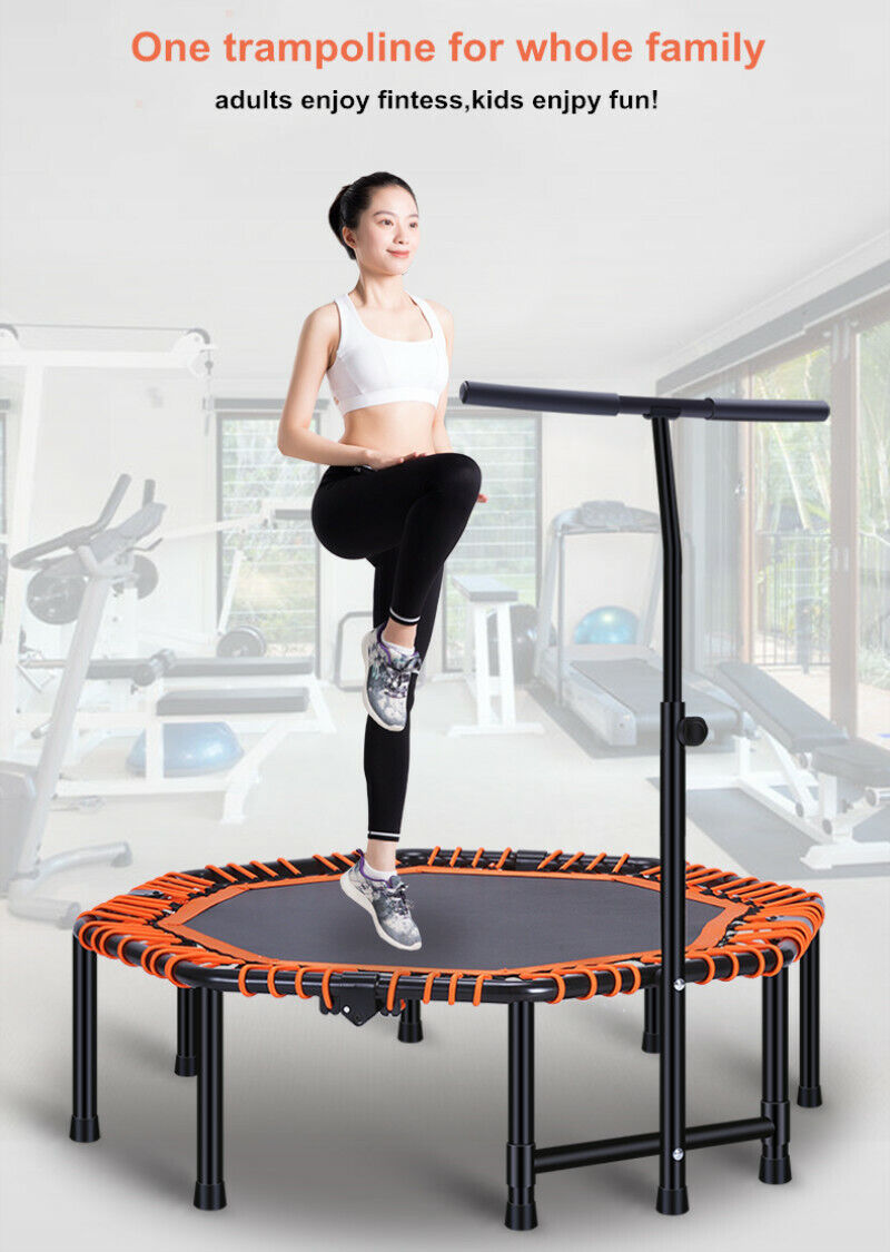 "40/"" 48/"" FXR SPORTS MINI TRAMPOLINE JUMPER CARDIO FITNESS EXERCISE WITH HANDLE"