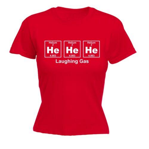 Débardeur femme Helium Gaz Hilarant Drôle Blague Geek Nerd Science Fitted T-shirt anniversaire