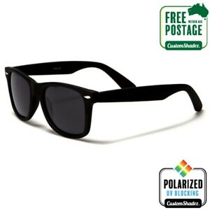 Polarised-Retro-Sunglasses-Matte-Black-Frame-Mens-Womens-Free-Postage-Aus