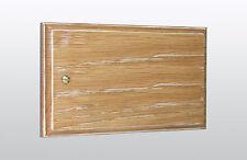 Varilight Double Blank Plate Limed Oak XKDBLO