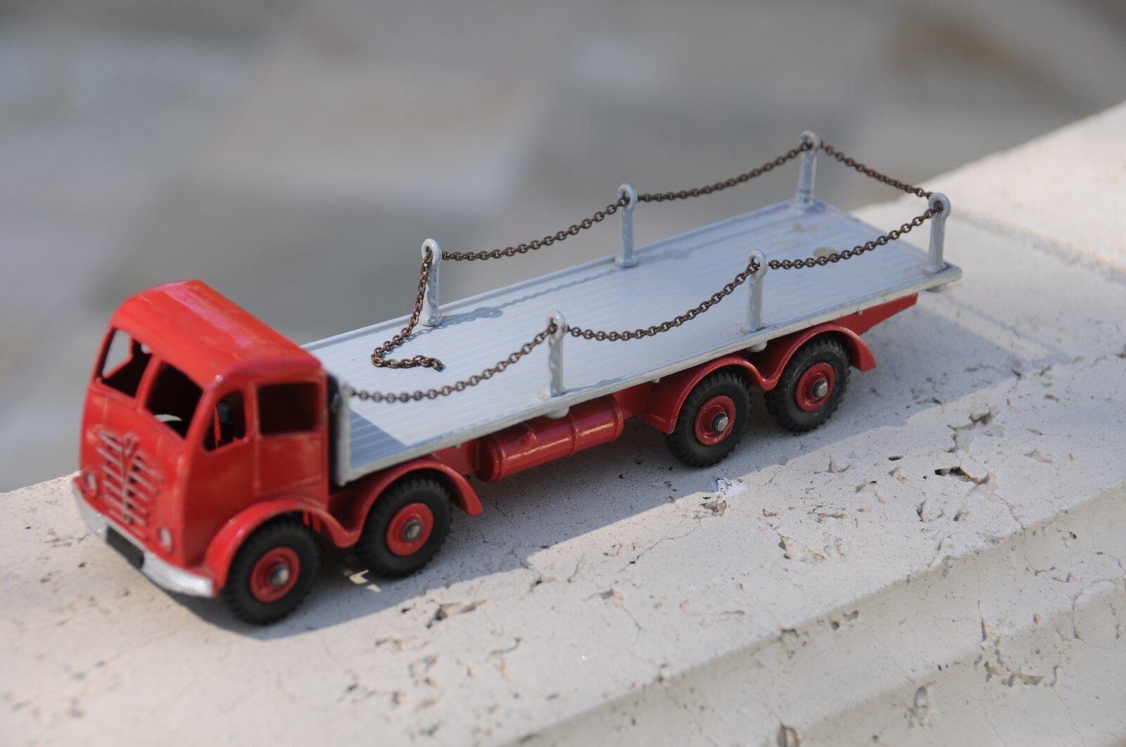 Vintage Dinky Supertoys   MIB   Foden 8-wheel Plat Camion W  Chaînes  N0. 905-