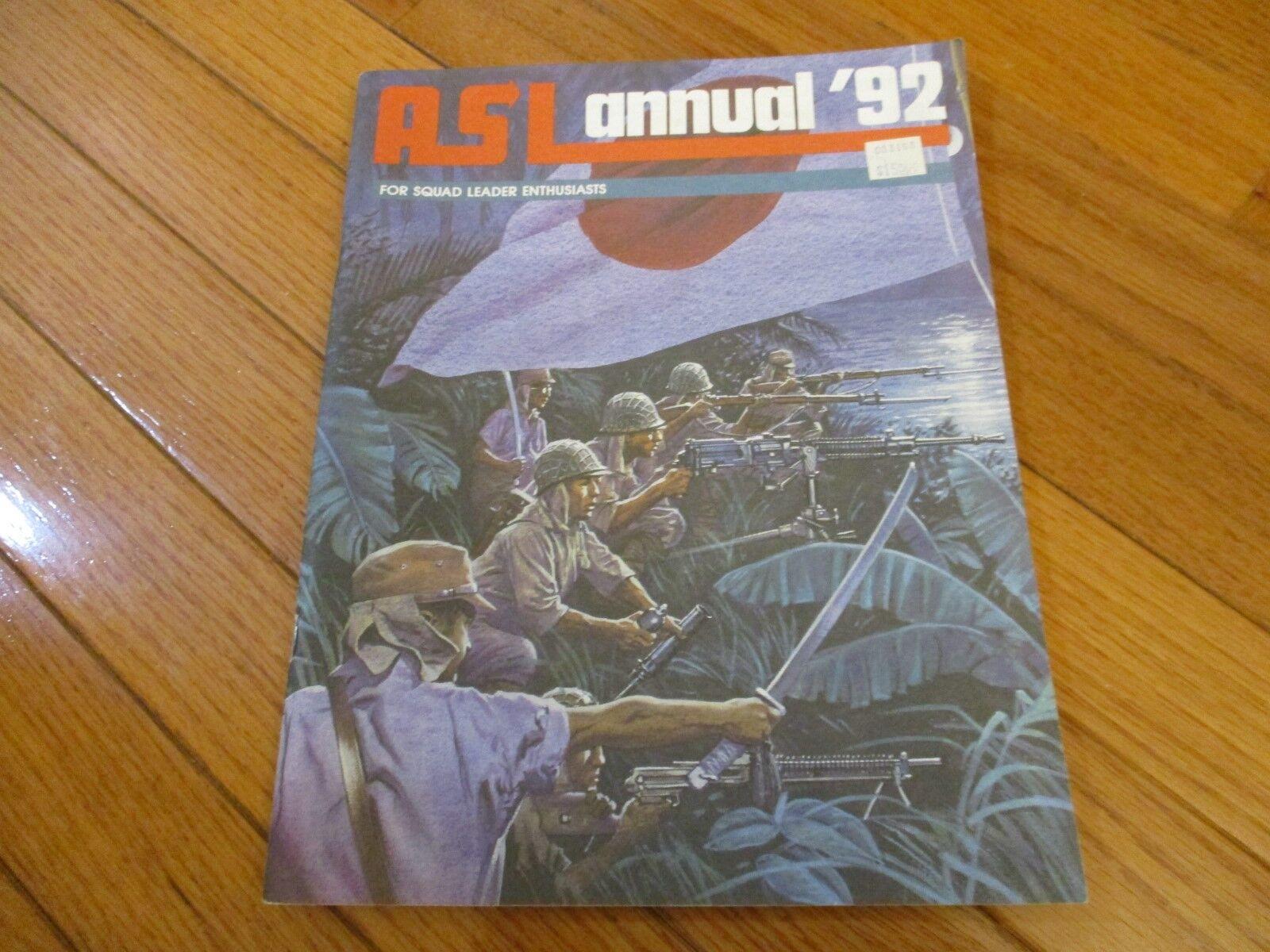 Avalon Hill ASL avanzada escuadrón líder ASL anual 92
