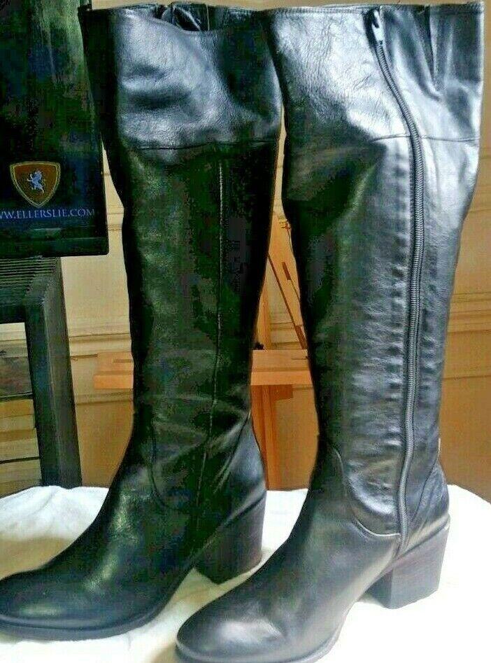 Vero Cuoio Footlight Woherren Knee High Stiefel Italian Leather Größe 9.5