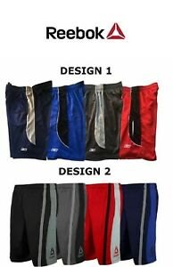 Reebok-Men-039-s-Mesh-Performance-Basketball-Shorts-Two-toned-Workout-Gym-Shorts