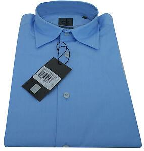 Camicia-Uomo-Calvin-Klein-Shirt-Men-Long-Sleeved-Azzurro