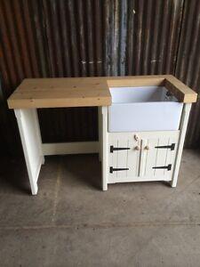 Image Is Loading Pine Freestanding Kitchen Belfast Butler Sink Unit  Appliance