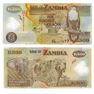 Humorous Zambia/zambia 500 Kwacha 2009 Pick 43 Unc.polymer /565541 ## Africa
