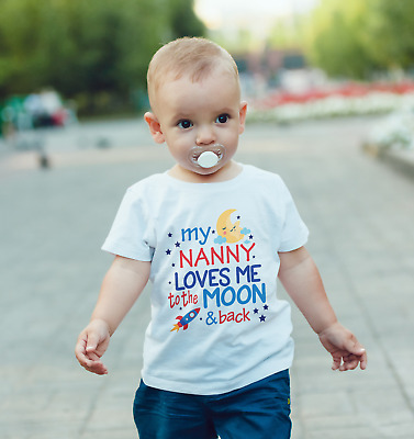 I love my Nanny to the moon and back T-Shirt Top Tee Children Kids All Sizes