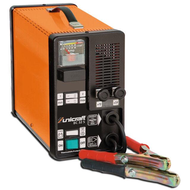 Unicraft Batterieladeladegerät BC 32 S 12/24V Startgerät Ladegerät Batterielader