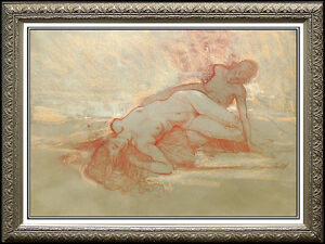 RICHARD-MACDONALD-Original-Pastel-Painting-Signed-Art-Bronze-Sculpture-STUDY-oil