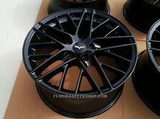 "Gloss Black C6 ZR1 Corvette Wheels 18X9.5/19X12"" FITS: 2006-2013 Z06/GRAND SPORT"