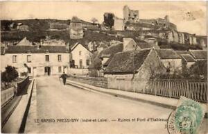 CPA-Le-Grand-Pressigny-Ruines-et-Pont-d-039-Etableaux-611611